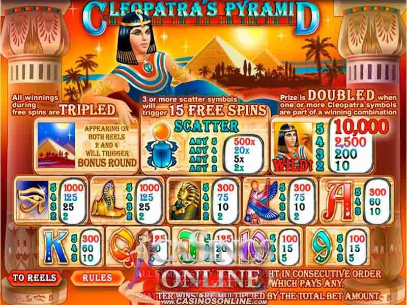 Play Cleopatra's Pyramid Slot