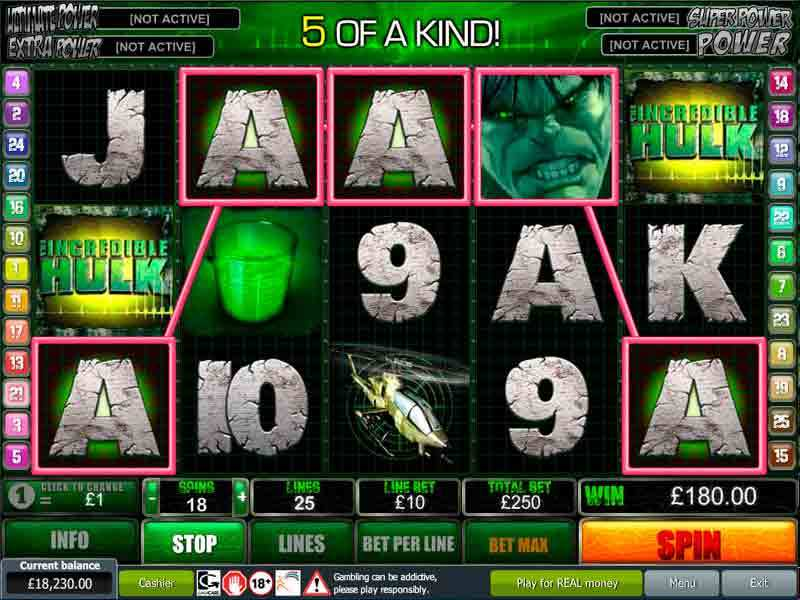 Play The Hulk 5-Reels Slot