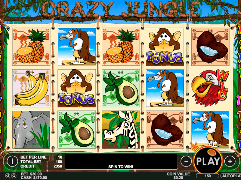 Play Crazy Jungle Slot