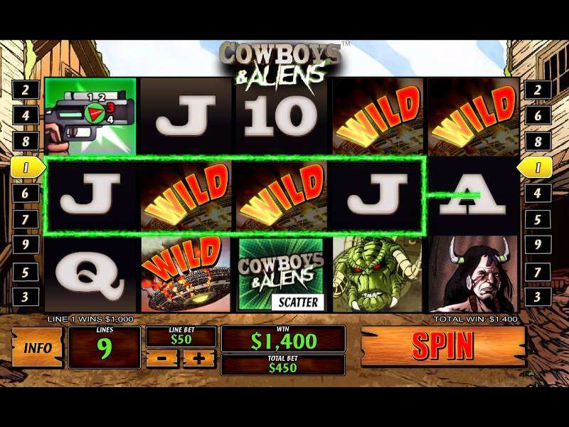 Play Cowboys & Aliens Slot