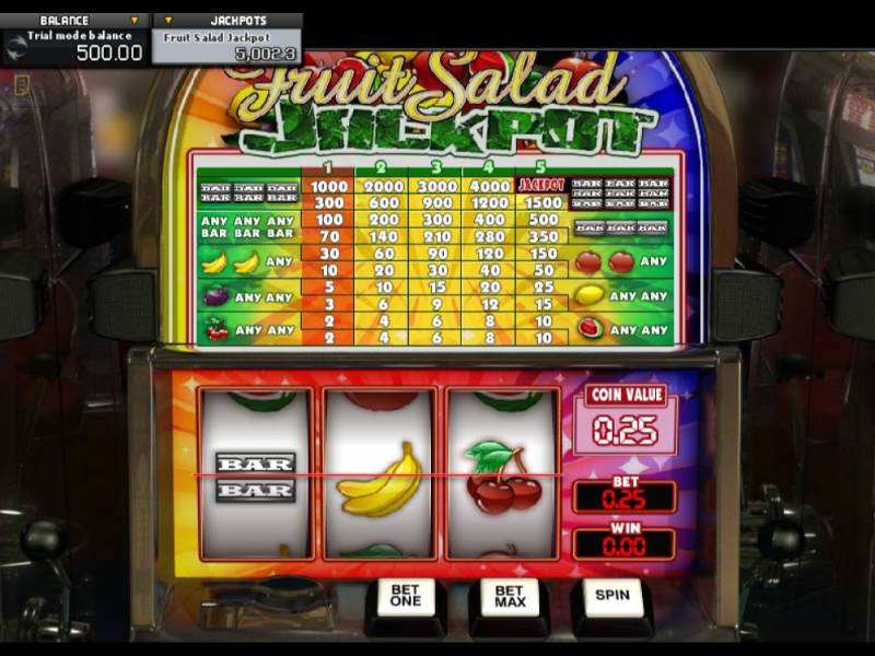 Play Fruit Salad Jackpot Slot