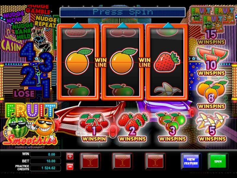 Play Fruit Smoothies Slot
