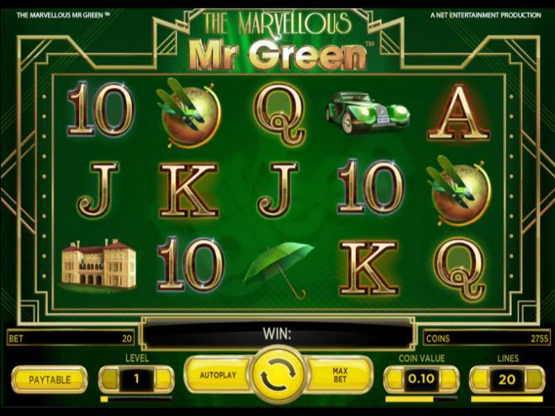 Play The Marvellous Mr Green Slot